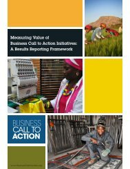 A Results Reporting Framework - Business Call to Action