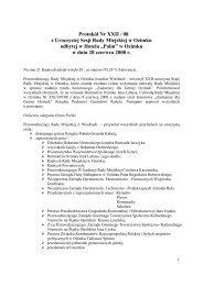 Protokół Nr XXII / 08 z Uroczystej Sesji Rady Miejskiej w Ozimku ...