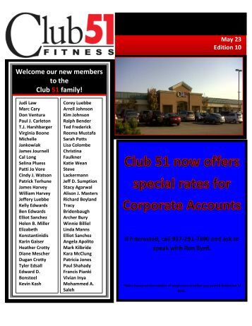 THE CLUB CONNECTION - Club 51 Fitness
