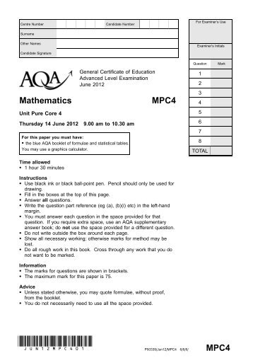 aqa phya1 w qp jan09 View homework help - aqa-byb1-w-qp-jan07 from history 106 at uxbridge high surname forexaminersuse othernames centrenumber candidatenumber candidatesignature generalcertificateofeducation january2007.