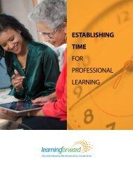 ESTABLISHING TIME FOR PROFessiOnal leaRning