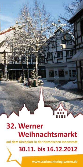 32. Werner Weihnachtsmarkt - Stadtmarketing Werne GmbH