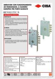 serrature con funzionamento ad ingranaggi, a cilindro europeo - Cisa