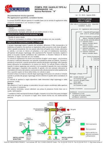 POMPA PER GASOLIO TIPO AJ INGRANAGGI 4-6 Nuova Revisione ...