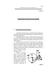 Capitolo 7 - Trasmissione del moto fra assi paralleli