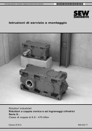 Riduttori industriali Riduttori a coppia conica e ad ingranaggi ...