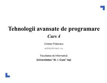 Tehnologii avansate de programare