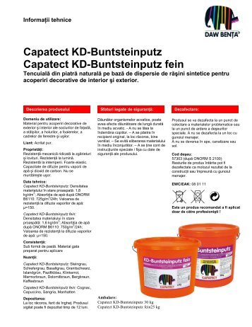 Capatect KD-Buntsteinputz Capatect KD ... - Larex-Therm