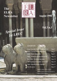 Vol.3, Nº3, August 1998 - Special issue: 1st LREC - ELRA