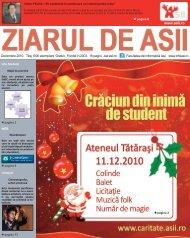Decembrie 2010. Tiraj 1000 exemplare. Gratuit ... - Ziarul de ASII