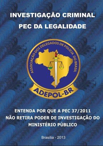INVESTIGAÇÃO CRIMINAL PEC DA LEGALIDADE