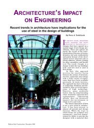 architecture's impact on engineering - Modern Steel Construction