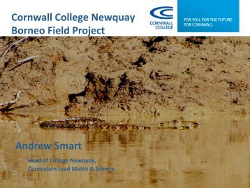 Dr Andrew Smart, Cornwall College Newquay - Cardiff University
