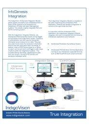 InfoGenesis Integration Modul... - IndigoVision