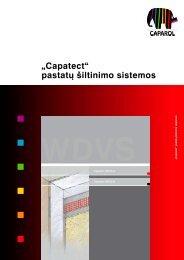 """""""Capatect"""" pastatų šiltinimo sistemos - Srava"""