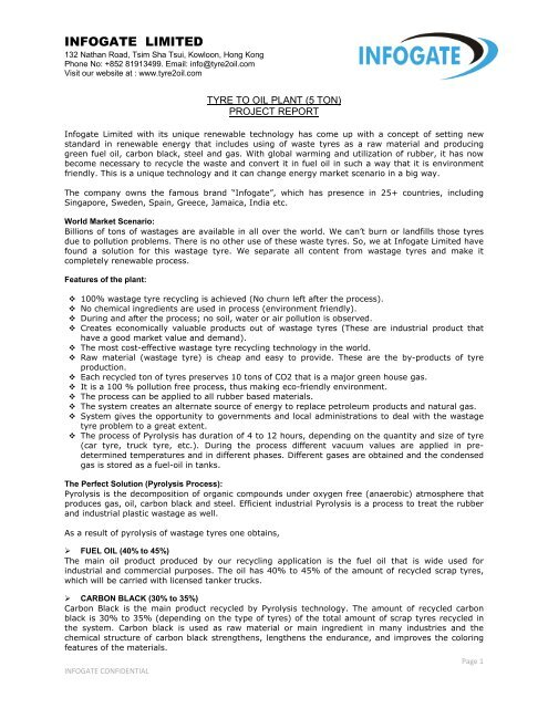INFOGATE LIMITED - Tyre2oil | Tyre to Oil