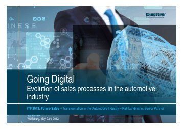 Going digital - Evolution of sales processes in the ... - Roland Berger
