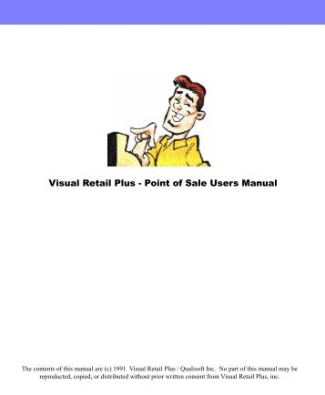 Visual Retail Plus - Point of Sale Users Manual - POS Software System
