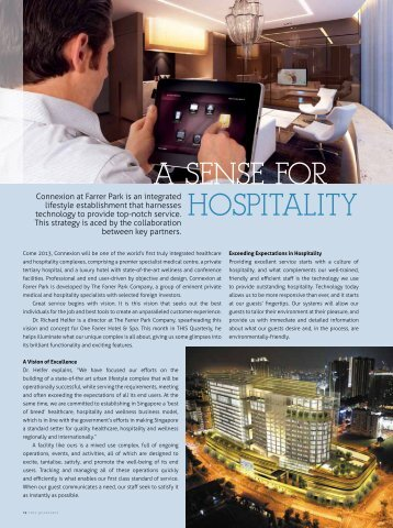 A Sense for Hospitality, April - June 2012 - Farrer Park Mediplex