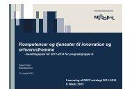 Peter Flodin - Kompetencer og tjenester til innovation og ... - DEFF