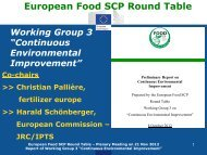 Presentation made by Harald Schoenberger - the European Food ...