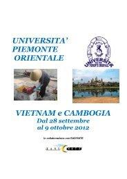 UNIVERSITA' PIEMONTE ORIENTALE VIETNAM e CAMBOGIA - CST
