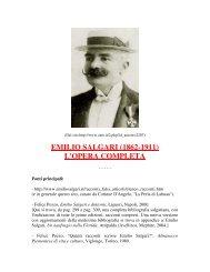 EMILIO SALGARI (1862-1911) L'OPERA COMPLETA - Daimon Club