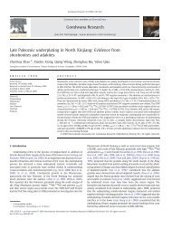 Late Paleozoic underplating in North Xinjiang: Evidence from ...