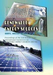 Renewable energy sources - Wseas.us