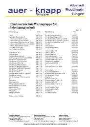 Warengruppe 330 Befestigungstechnik - Ulrich Adam Knapp GmbH ...