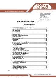 Baubeschreibung Economy - Augusta Ziegelbau