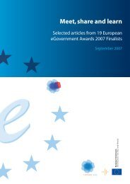 Meet, Share and Learn : Selected Articles From 16 - ePractice.eu
