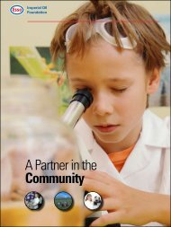 A Partner in the Community - Imperial Oil