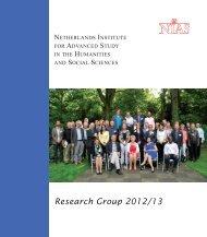 Research Group 2012/13 - NIAS - KNAW