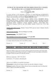 2008.08.01 – DISTRACTION DU REGIME FORESTIER - Roiffieux