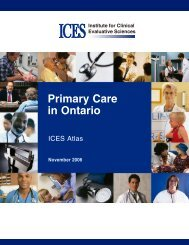 Primary Care in Ontario - ICES Atlas - Joint Centre for Bioethics