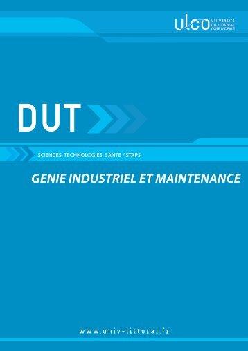 Génie Industriel et Maintenance - Université du Littoral Côte d'Opale