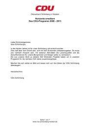 WahlprogrammderCDUSchnbergfrdieKommunalw - CDU Schönberg