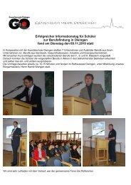 Erfolgreicher Informationstag für Schüler zur Berufsfindung in ...