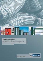 Lieferprogramm Draht und Drahterzeugnisse - ThyssenKrupp ...
