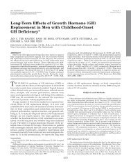 Long-Term Effects of Growth Hormone (GH) Replacement in Men ...