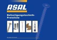 Befestigungstechnik- Preisliste - Asal