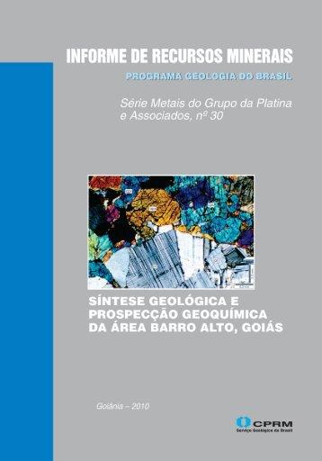 Síntese geológica e prospecção geoquímica da área Barro ... - CPRM