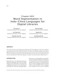 Word Segmentation in Indo-China Languages for Digital Libraries
