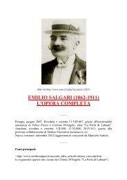 EMILIO SALGARI (1862-1911) L'OPERA COMPLETA