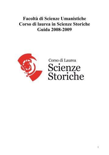 Guida - Facoltà di Scienze Umanistiche - Sapienza