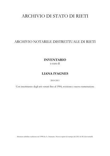Archivio notarile distrettuale di Rieti