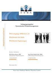PM Lehrgangsangebot - European Systemic Business Academy