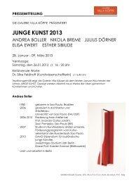 JUNGE KUNST 2013 - Artforum