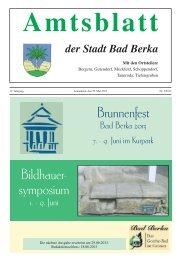 Brunnenfest Bildhauer- symposium - Kurstadt Bad Berka